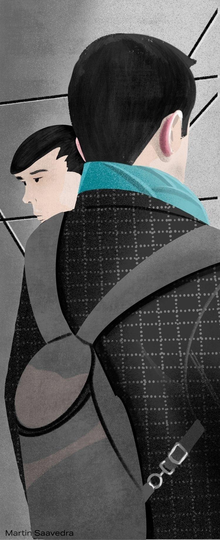 rushhour, metrodc, metro, illustration - martinillustrates | ello
