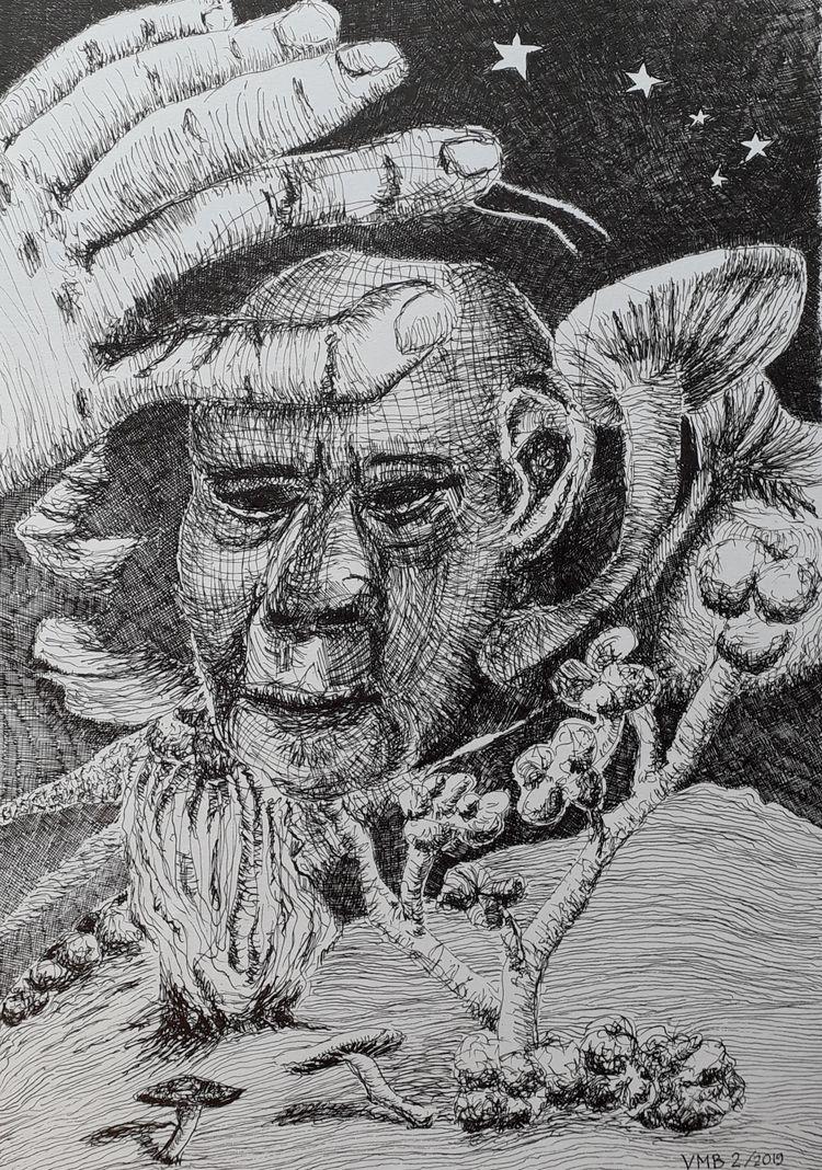 3 drawings finished weeks. ink  - vincent_bakker | ello