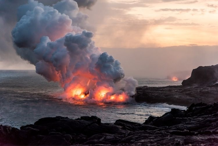 Kilauea Ocean Entry | - nikon, hawaii - phototkh | ello