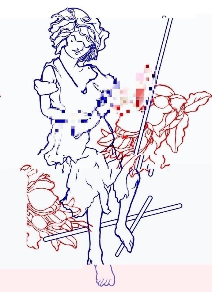 III Wands, Glitch Tarot - ligneclaireproject - kalitrop   ello