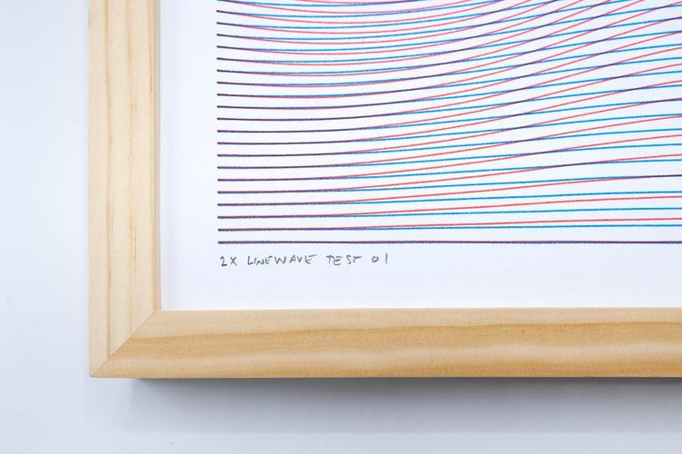 2X Linewave Test 01 $150 Framed - bergerfohr | ello