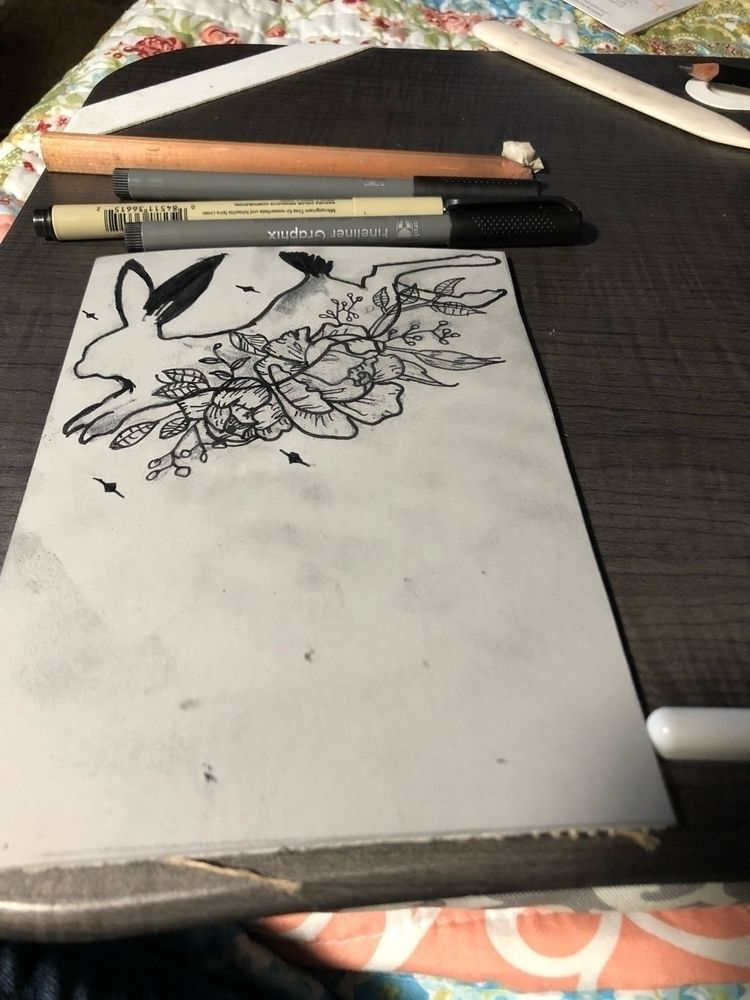 peony jackrabbit progress 🖤 - blockprinting - dustbowlugly | ello