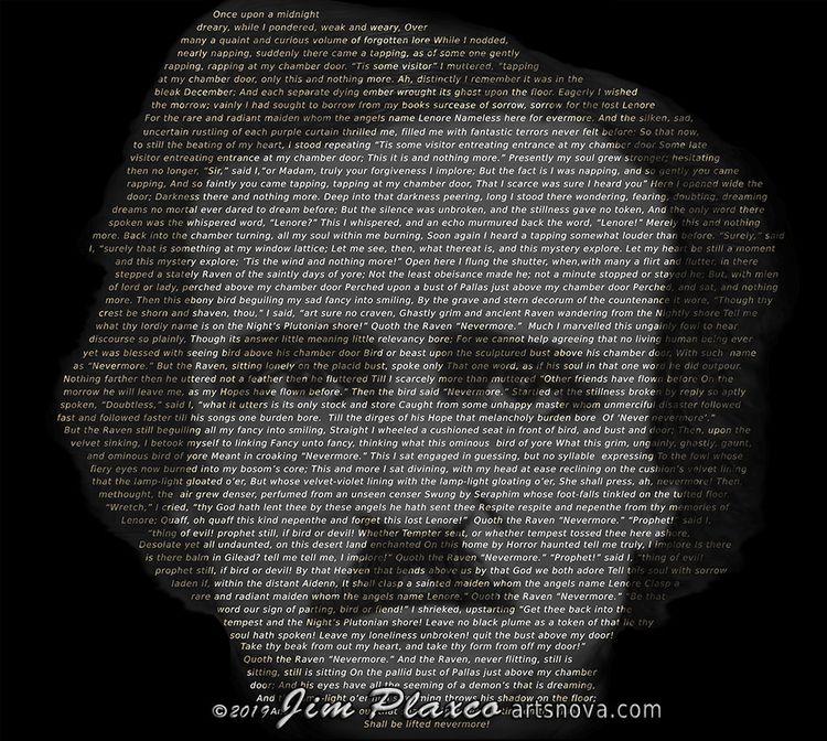 portrait Edgar Allan Poe create - jim_plaxco   ello