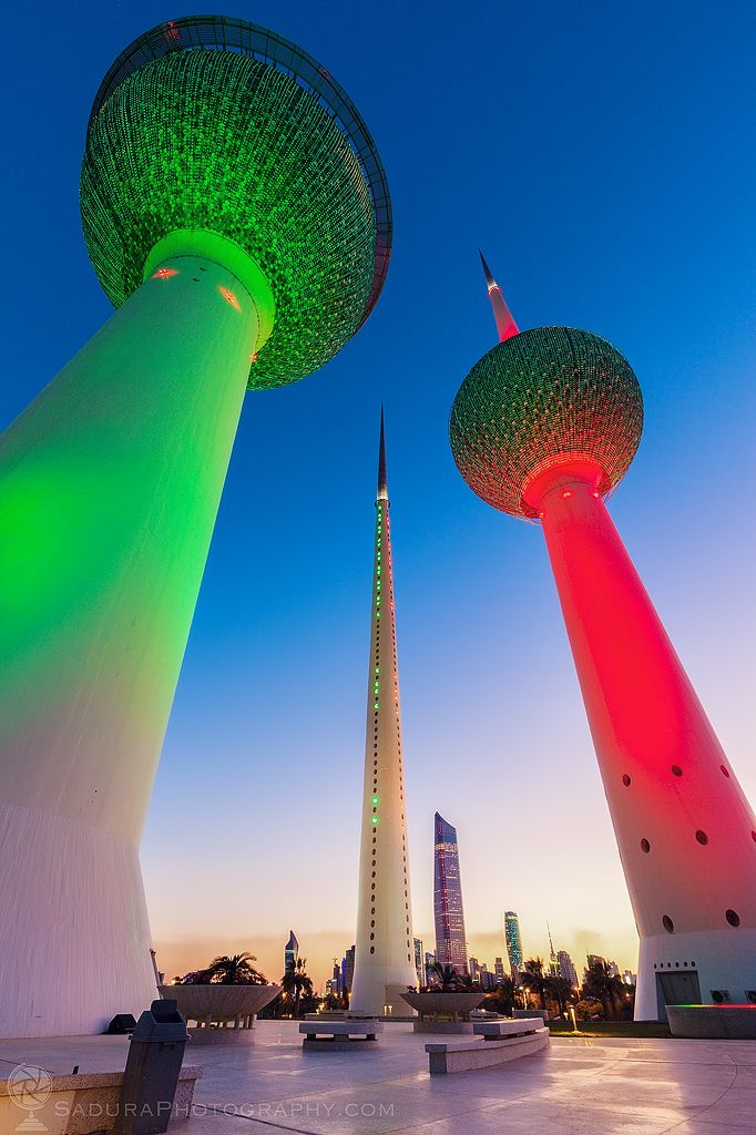 Kuwait Towers evening City, :fl - hsphotos | ello