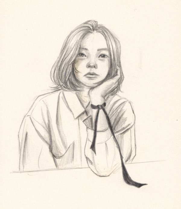 Tired black ribbon - drawing, doodle - j0eyg1rl | ello