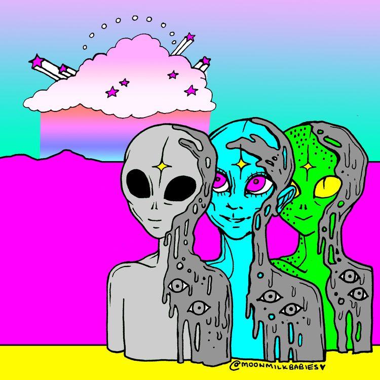 Alien sunset - moonmilkbabies | ello