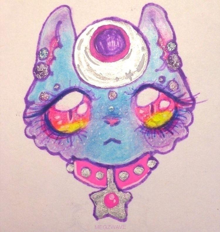 small kitty charm awhile  - handmade - megzwave | ello