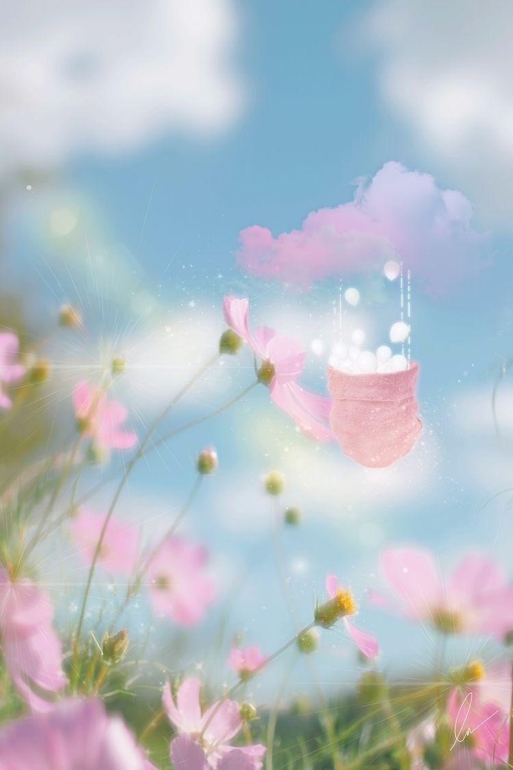 ⌯Cloud Balloon Wild Bloom⌯ plac - tulimond | ello