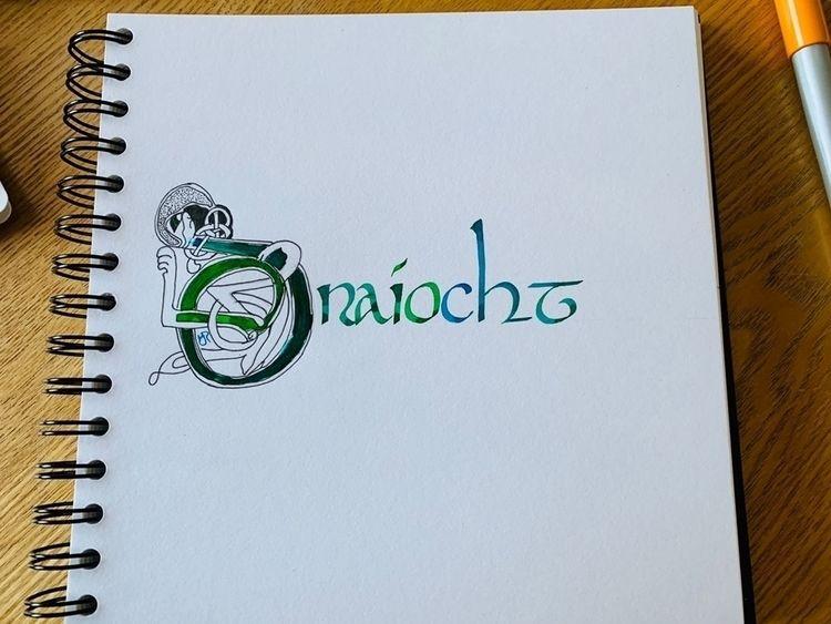 Magic - calligraphy, celticart, celticknotwork - melanie-jane | ello