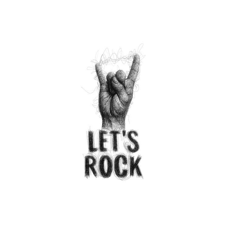 rock! Scribble technique illust - goragorskiy   ello