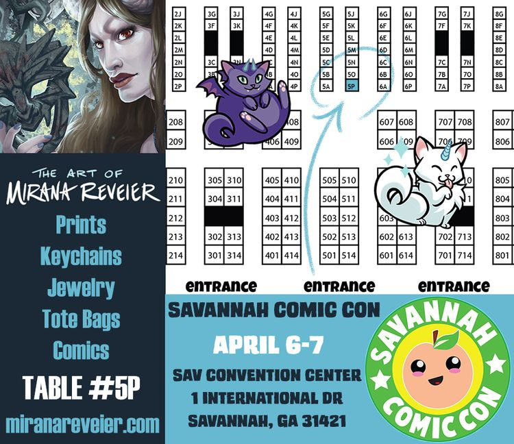 weekend Savannah Comic Con Conv - mirana | ello