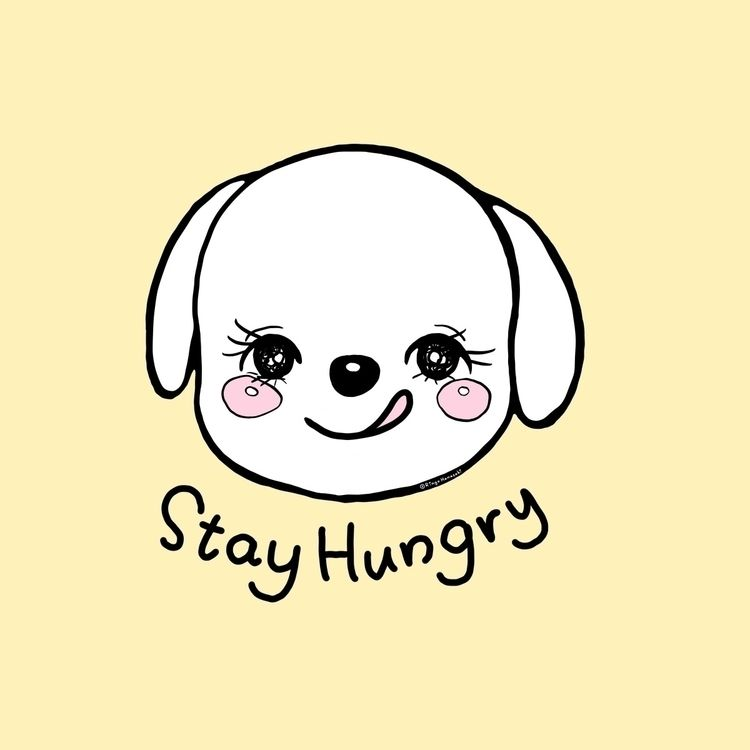 foodie dog - stayhungry, dogillustration - ringohanasaki | ello