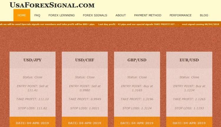 Honest Forex Signals: signals s - usaforexsignal   ello