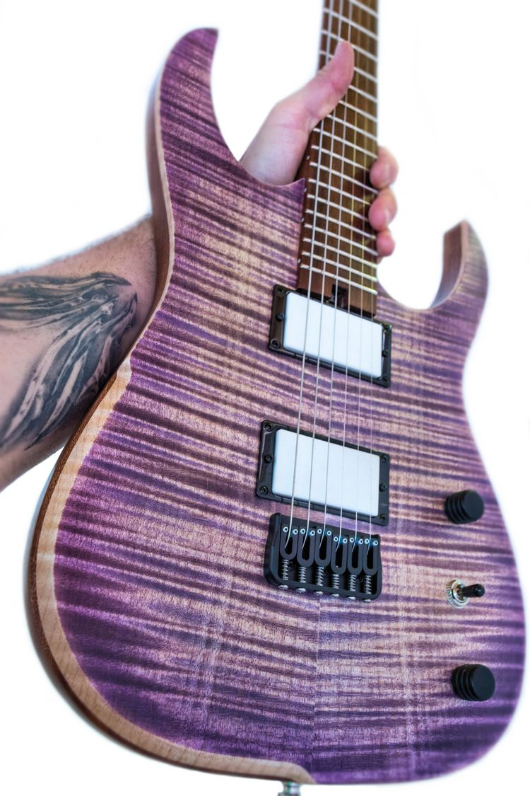 build, purple 'tantalum' model - hufschmidguitars | ello