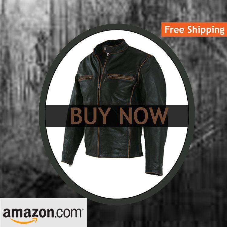 Biker Motorcycle Leather Jacket - steven687   ello