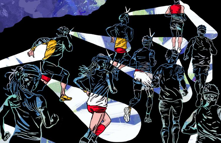 'Night Run' Wind Magazine 2019 - ciaran_illustration | ello