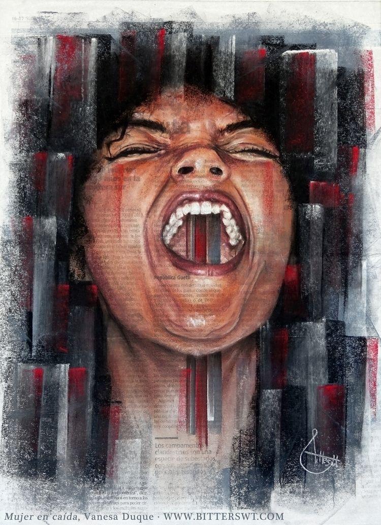 «Woman downfall», artwork Visce - bitterswt | ello