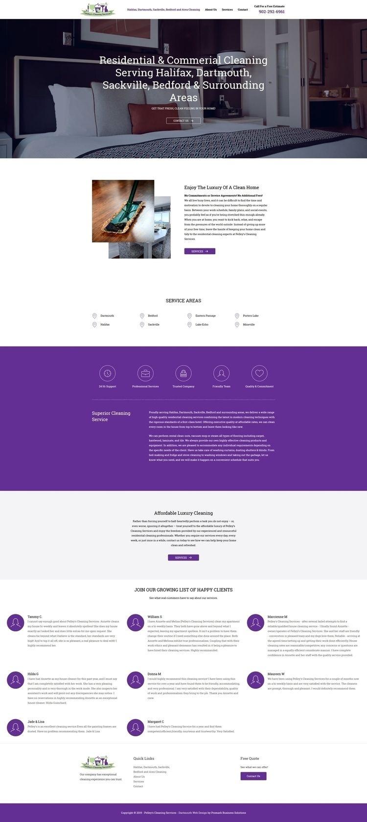 Cleaning Website brand website  - promarkbusinesssolutions | ello
