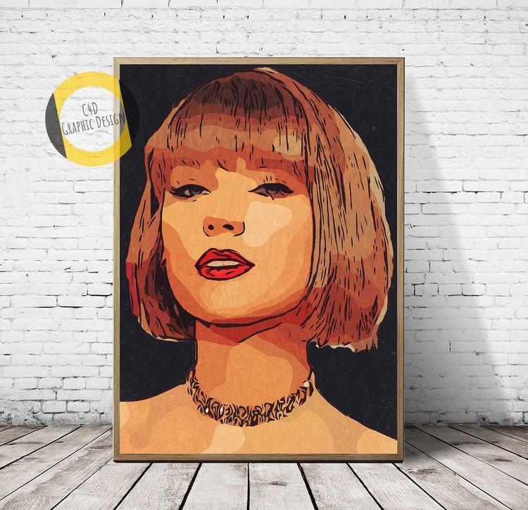 Taylor Swift Poster, Print,Tayl - c4dgraphic   ello