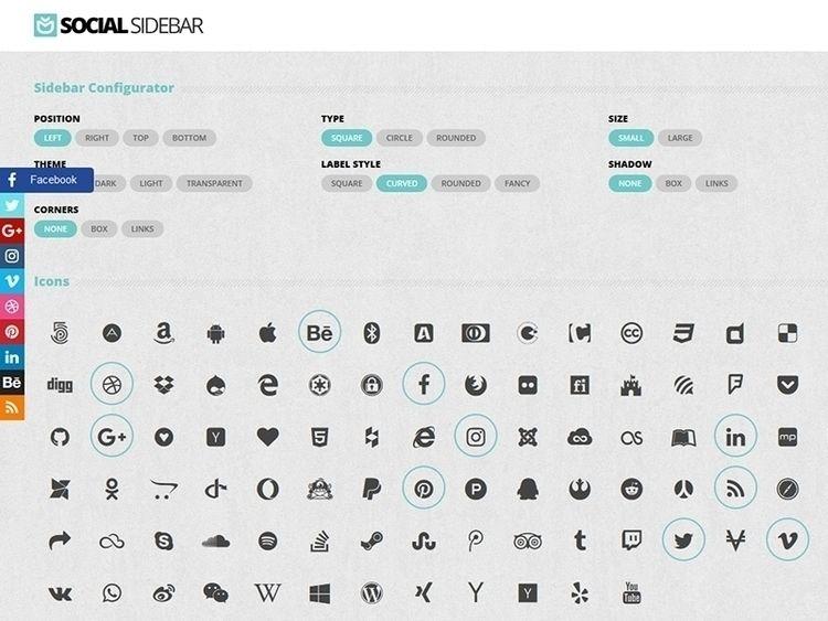 Social Sidebar WordPress Plugin - flashblue | ello