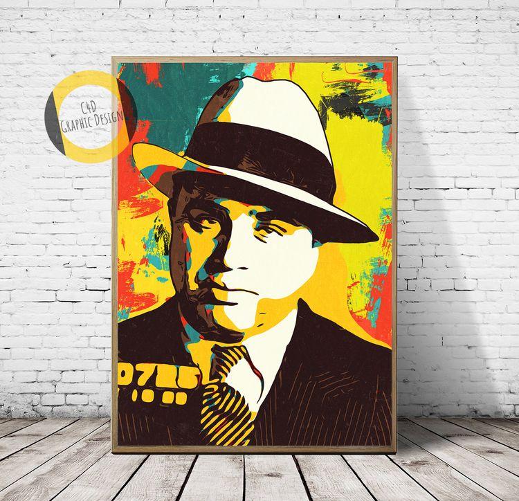 Al Capone Print,Al Poster,Al Ar - c4dgraphic   ello