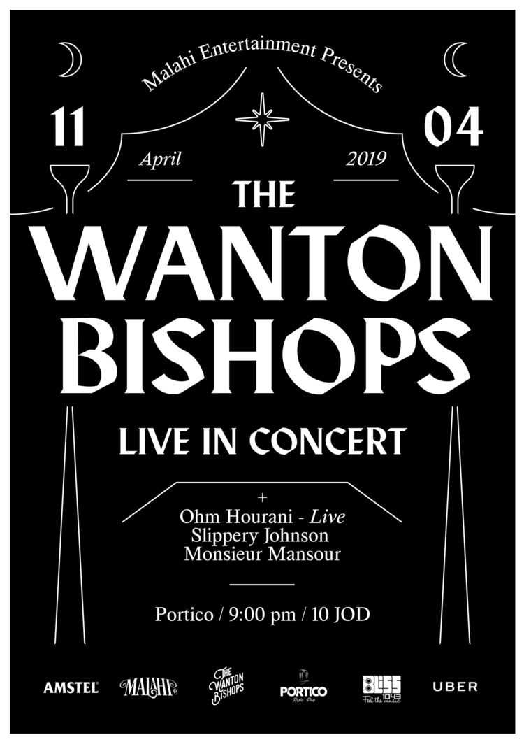 Poster live show - TheWantonBishops - saeed | ello