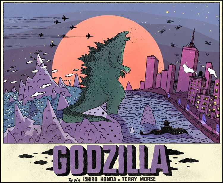 Godzilla - godzilla, illustration - stevenjcompton | ello