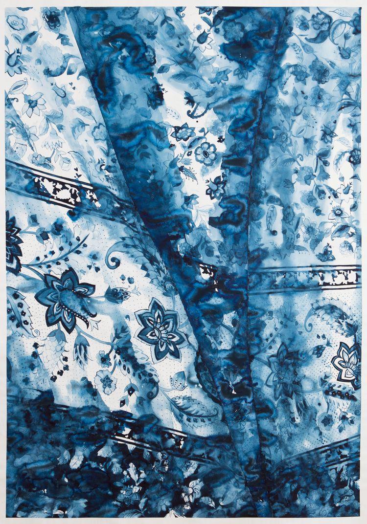 // Curtain 2, watercolour paper - degann | ello