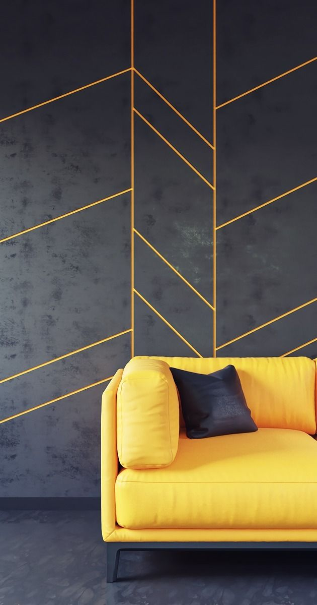 Dark Wall Panel Gold Accent Yel - cgflux | ello