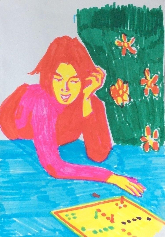 sketch, colours, boardgames, felttip - hey-esmee | ello