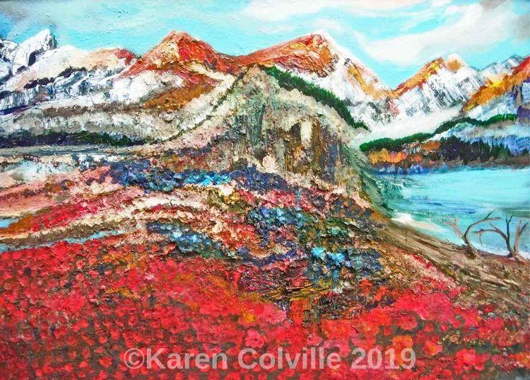 Sunset Rockies Karen Colville - karensparkles - karensparkles | ello