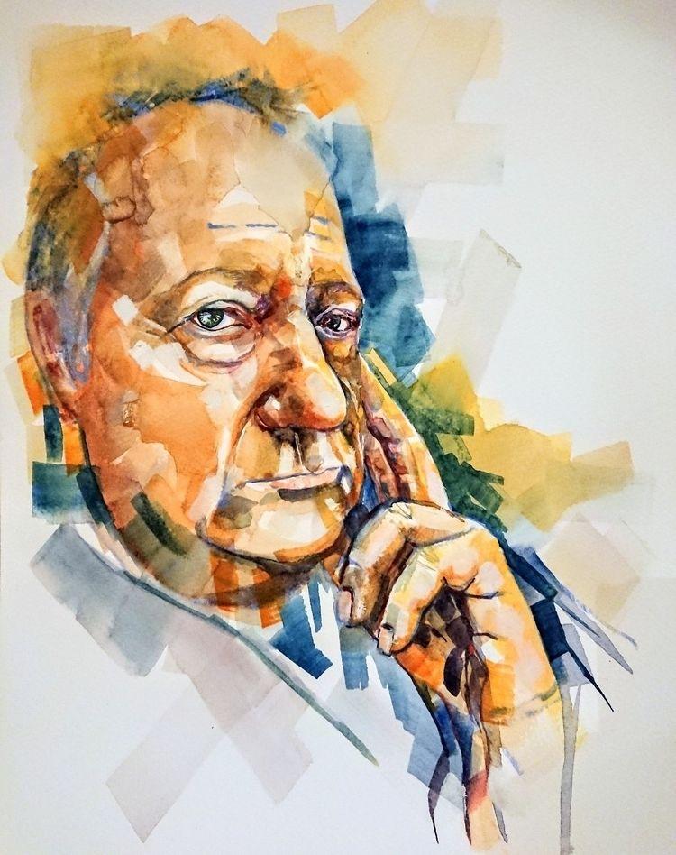 Watercolour portraits, showing  - jonmortimer | ello