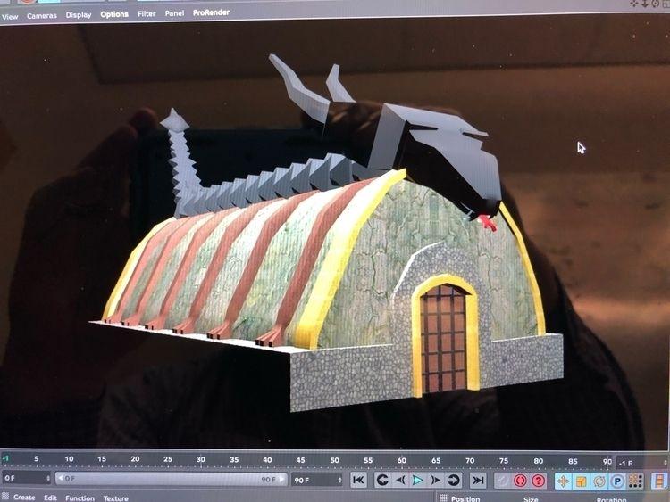 Dragon church medieval scene bu - stormymtn | ello