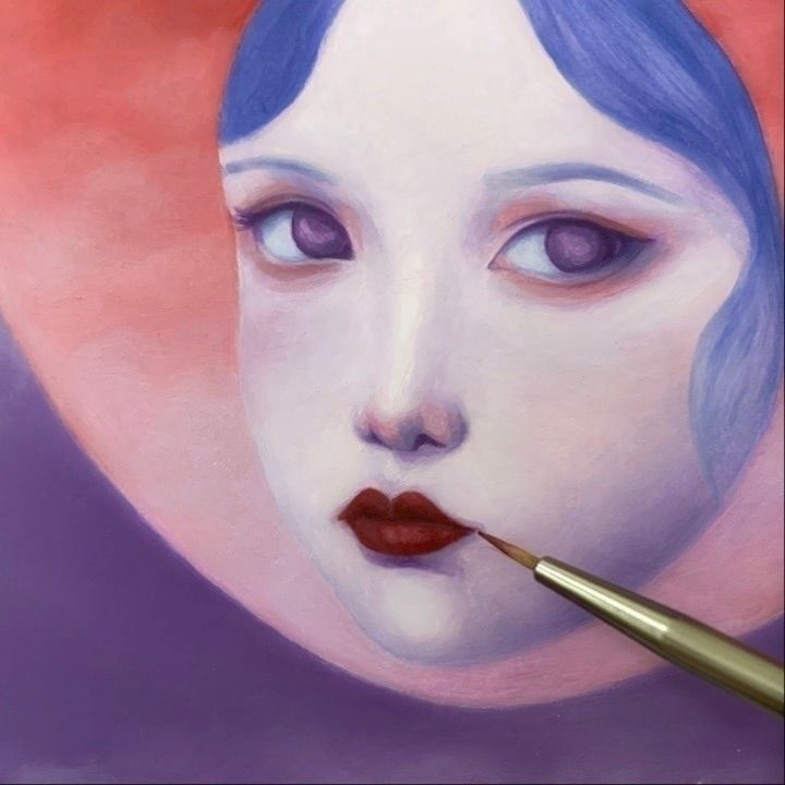 WIP. layer oil paintings Dual S - carolinaseth | ello