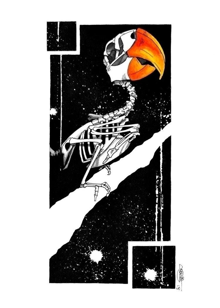 Parakeet skeleton, Skeenee, Fou - skeenee   ello