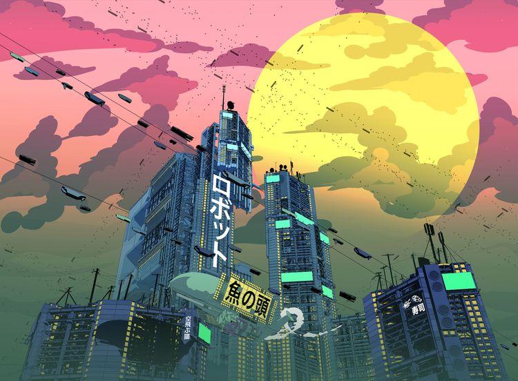 Cyber City 101 - sketchup, hardsurface - scifi88 | ello