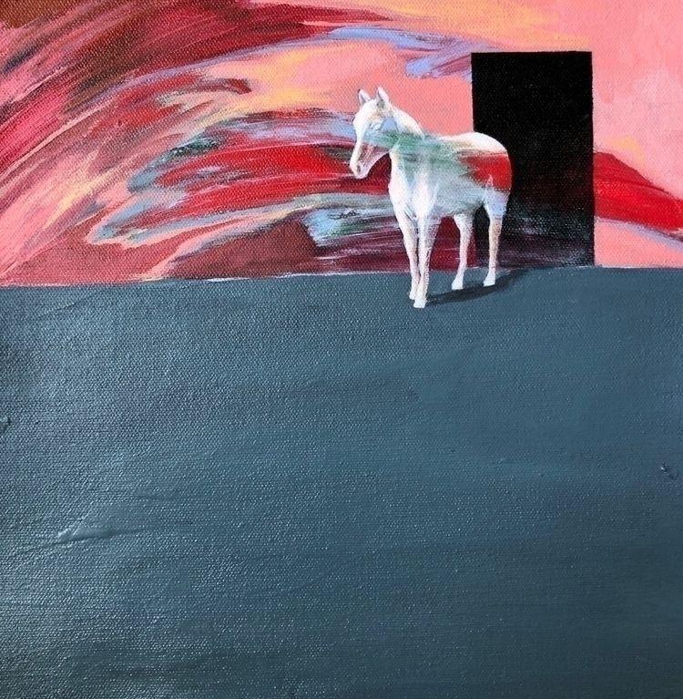 felt ghost? Acrylic canvas - painting - helenagarza | ello