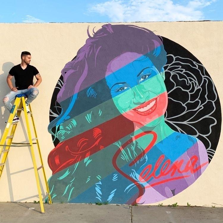 Selena quintanilla mural finish - nick_santos___ | ello