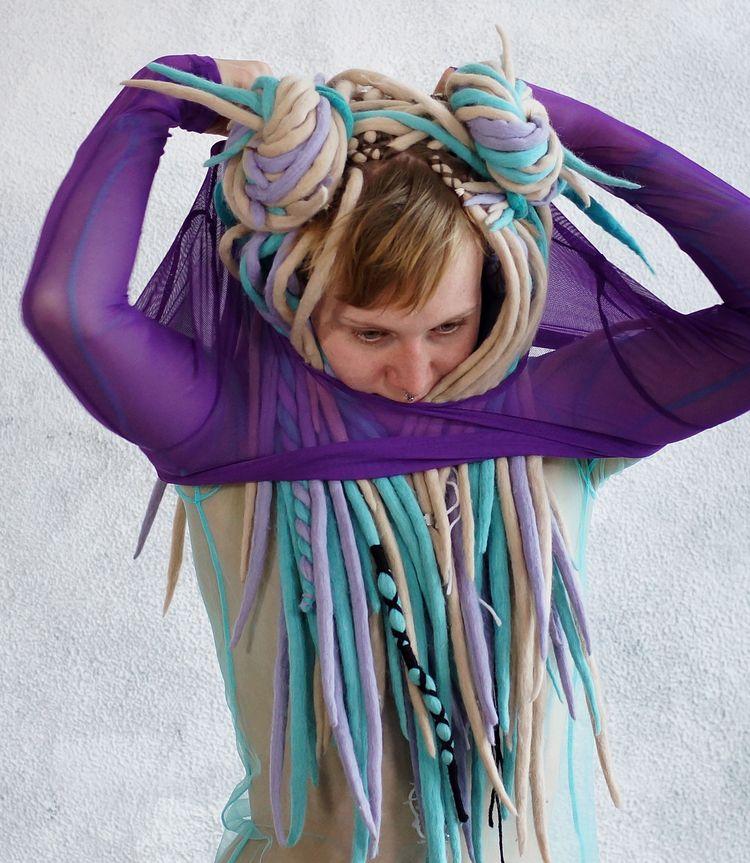 Double colours shedding purple  - frango_artist | ello