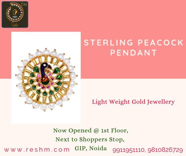 Sterling Peacock Pendant Resham - reshammjewellery   ello
