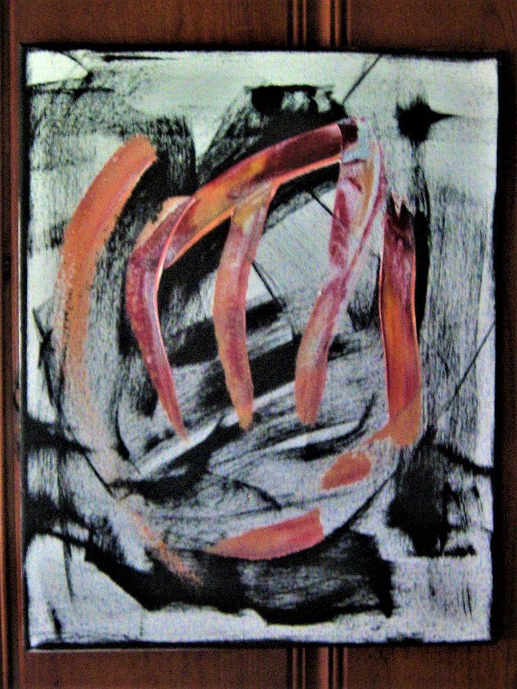 Peach 20x16 - Acrylic, Canvas, ElloArt - lorenrobertsstudio | ello