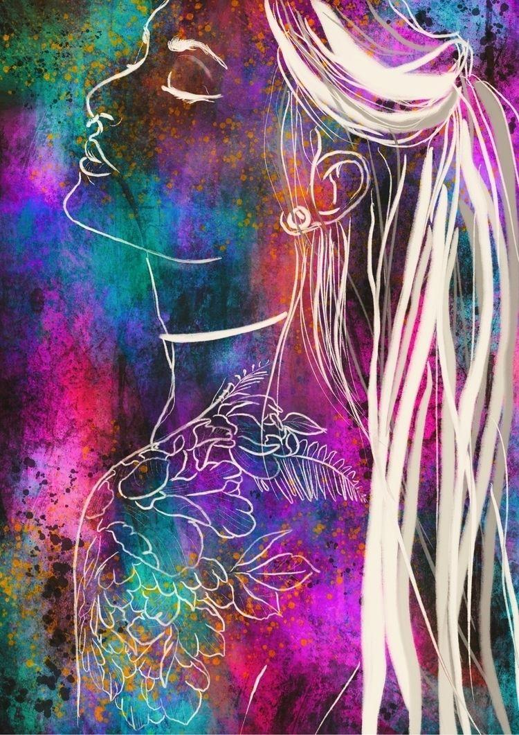 painting, drawing, contemporaryart - asylum_of_spirits   ello