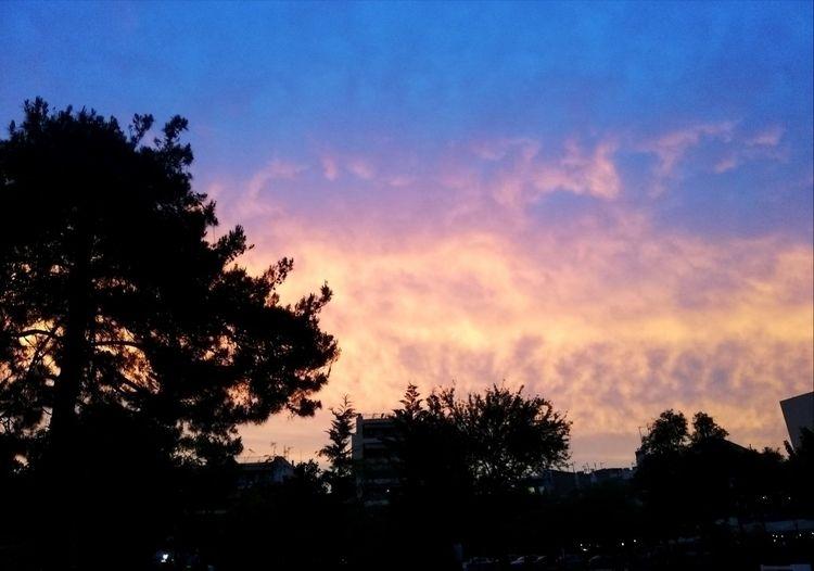 sky, greece, trees, colors, clouds - mchdlc | ello