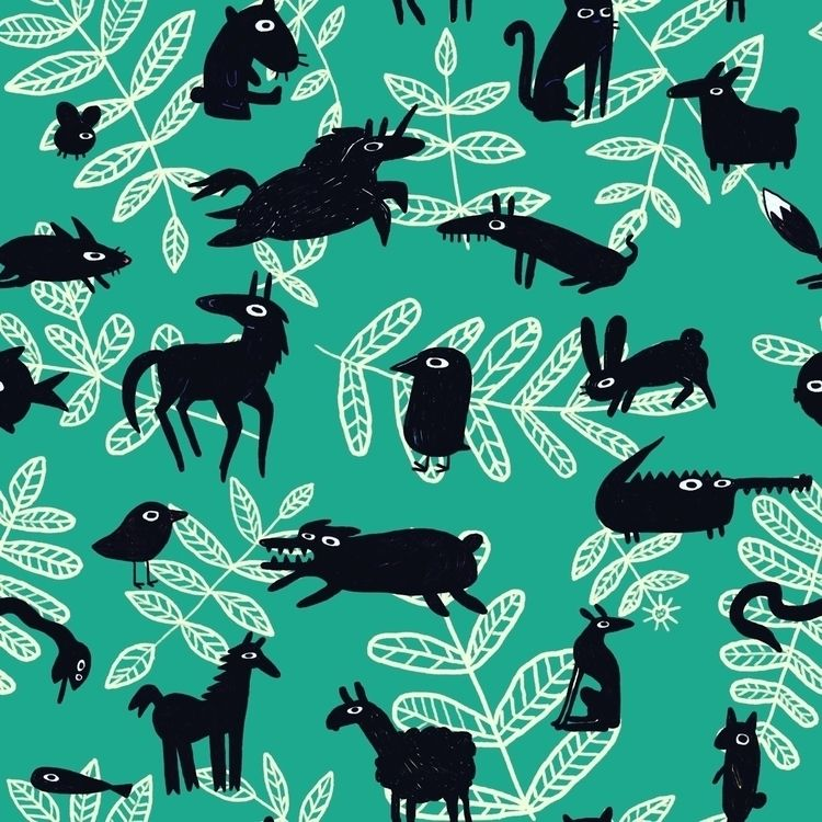 Animalia pattern :heart:️:heart - ziggyk | ello