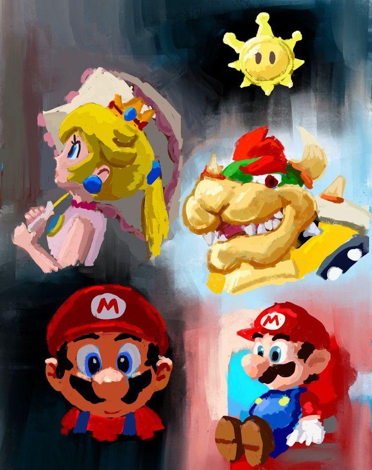 Mario Sunshine Colour Study - digitalpainting - rhyanabbott   ello