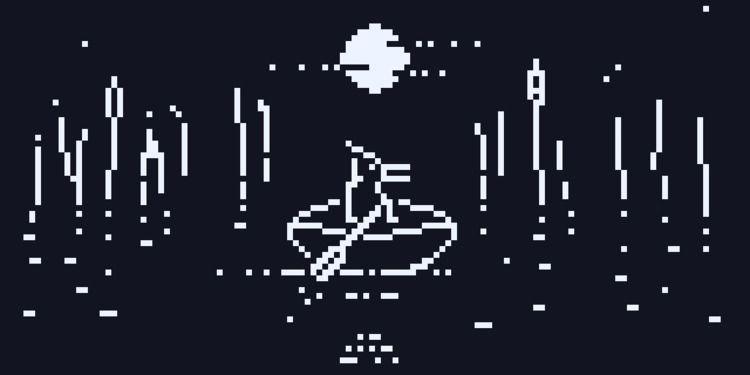Night paddle - pixel, 1bit - gregsted | ello