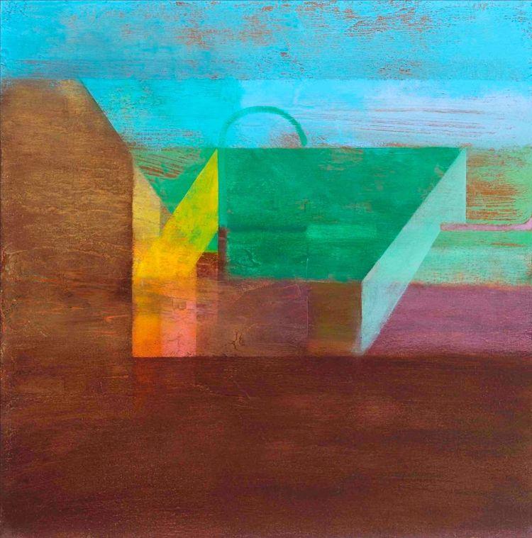 Garden: Oil canvas, 61x61 cm fu - kioskofdemocracy | ello