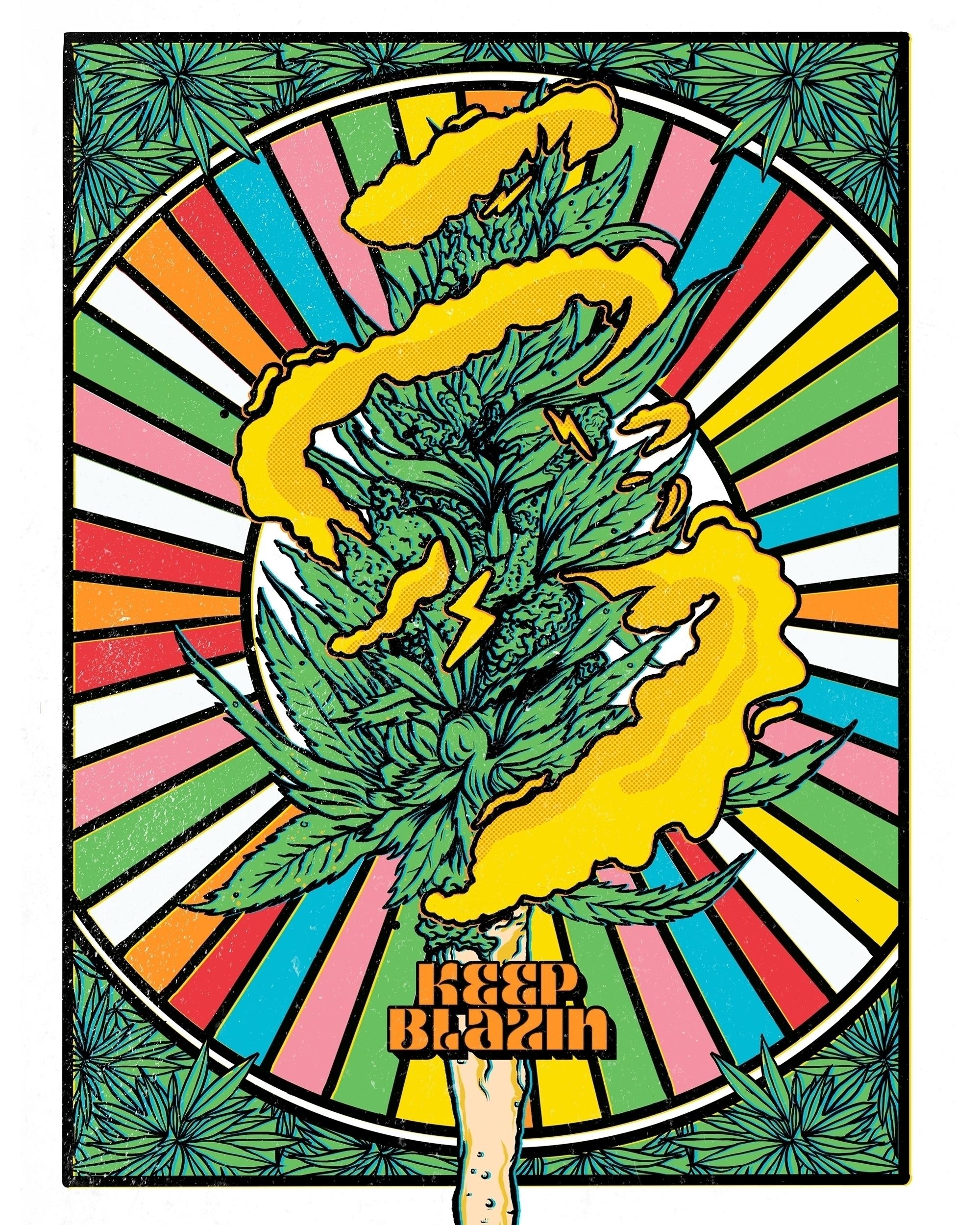 4/20 Holidaze Procreate Blaze - cannabis - thecommas | ello