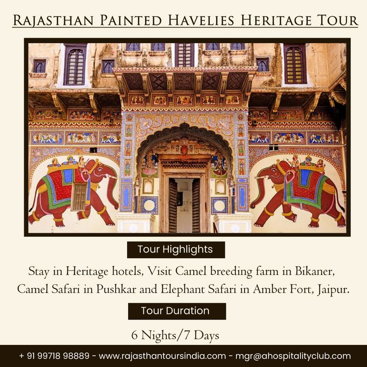 Book Rajasthan Painted Havelis  - rajasthantoursindia | ello