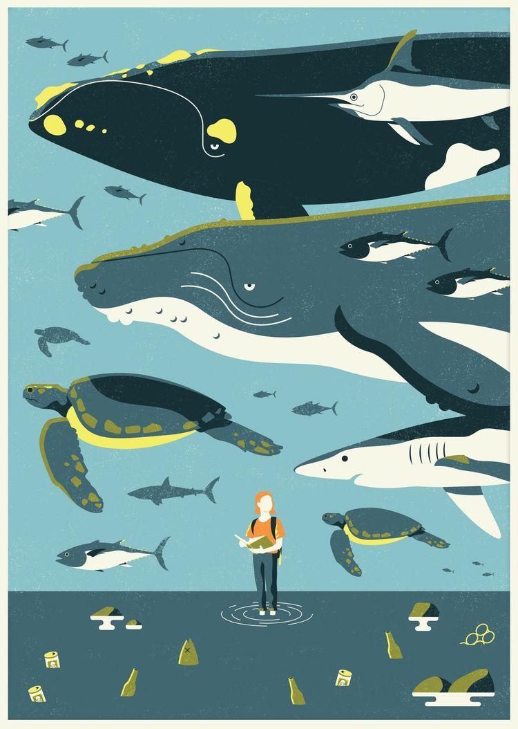 Oceans Week 2019 | Illustrator  - hannahemmett1 | ello